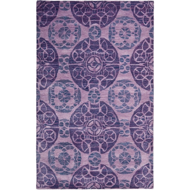 Safavieh Handmade Chatham Treasures Purple New Zealand Wool Rug (8' x 10')