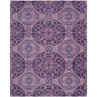 Safavieh Handmade Chatham Treasures Purple New Zealand Wool Rug - 8' x 10'