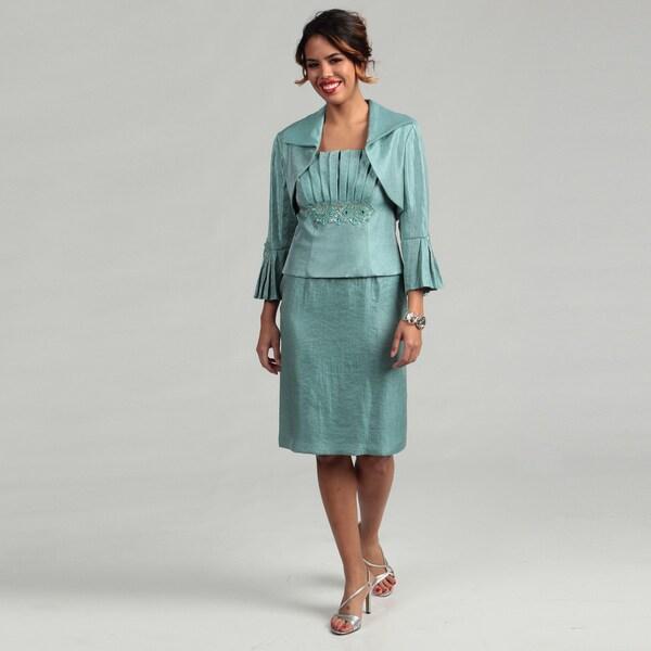 KM Collections Women's 2-piece Jacket Dress
