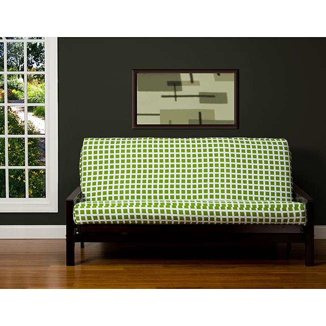 shop block island green 6 inch queen size futon cover on sale free shipping today. Black Bedroom Furniture Sets. Home Design Ideas