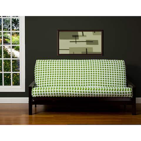 Block Island Green 6-inch Full-size Futon Cover
