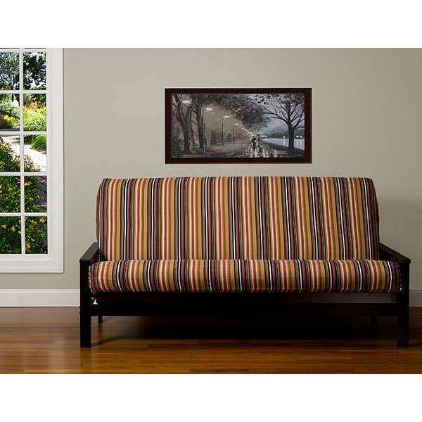 Stripe 6 Inch Queen Size Futon Cover