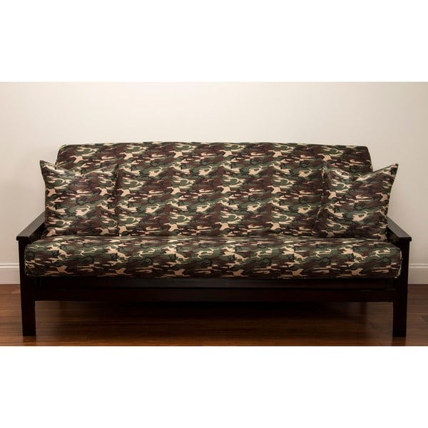 Siscovers Microfiber Camouflage Futon Cover