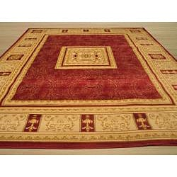 Red Transitional Floral Josephine Rug (5'3 x 7'3) - Thumbnail 2