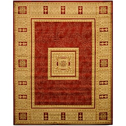 """Red Transitional Floral Josephine Rug (5'3 x 7'3) - 5'2"""" x 7'2"""" - Thumbnail 0"""