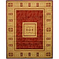 """Red Transitional Floral Josephine Rug (5'3 x 7'3) - 5'2"""" x 7'2"""""""
