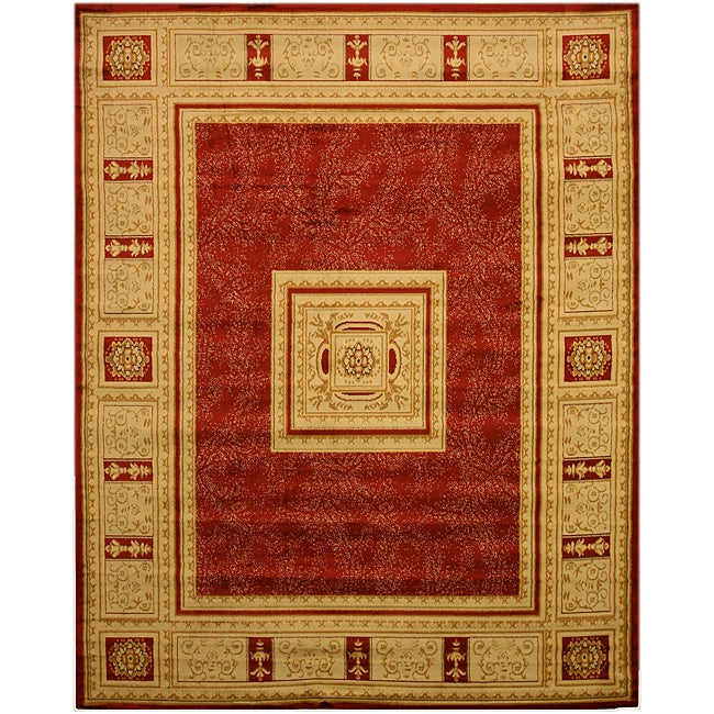 Red Transitional Floral Josephine Rug (7'10 x 9'10) - Thumbnail 0
