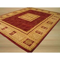 Red Transitional Floral Josephine Rug (7'10 x 9'10) - Thumbnail 1