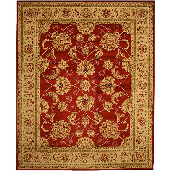 Hand Tufted Agra Red Gold Wool Rug 8 Round: Wilshire Rug Collection