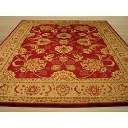 Red Traditional Oriental Antep Agra Rug (7'10 x 9'10) - Thumbnail 2