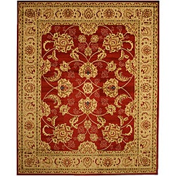 Red Traditional Oriental Antep Agra Rug (7'10 x 9'10)