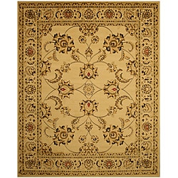 Ivory Traditional Oriental Antep Agra Rug (5'3 x 7'3)