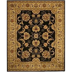 Black Traditional Oriental Antep Agra Rug (5'3 x 7'3)