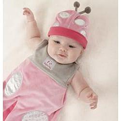 Baby Aspen Snug as a Bug Ladybug Snuggle Sack Gift Set