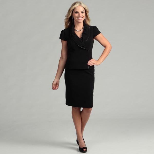 Nine West Women's 2-piece Zipper Jacket Skirt Suit