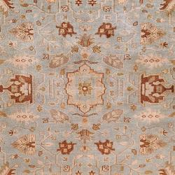 Hand-knotted Blue Fantasia Semi-Worsted New Zealand Wool Rug (3'9 x 5'9) - Thumbnail 2