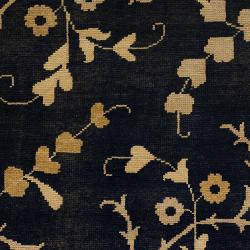 Hand-knotted Black Beret Wool Rug (5'6 x 8'6) - Thumbnail 2