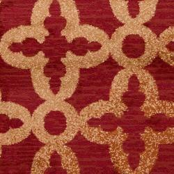 Woven Red Armoire Olefin Rug (5'3 x 7'6) - Thumbnail 2
