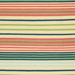 Hand-woven Green Baloo Wool Rug (3'6 x 5'6) - Thumbnail 2