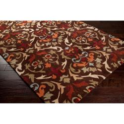 Hand-tufted Brown Mayall Polyester Rug (5' x 8') - Thumbnail 1