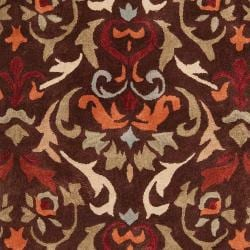 Hand-tufted Brown Mayall Polyester Rug (5' x 8') - Thumbnail 2