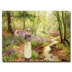 "Ernest Walbourn 'The Bluebell Glade' Canvas Art (22"" by 32"")"