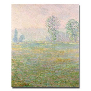 Claude Monet, 'Meadows in Giverny, 1885' Canvas Art