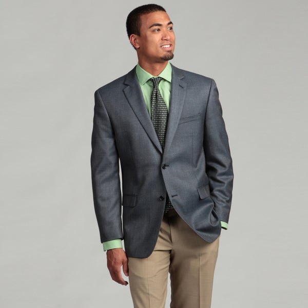 Joseph Abboud Men's Blue Silk/Wool Blend Sportcoat