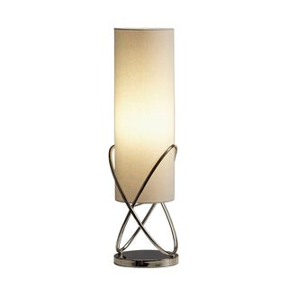 Contemporary Linen Cylindrical Table Lamp