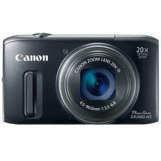 Canon PowerShot SX260 HS 12MP Black Digital Camera