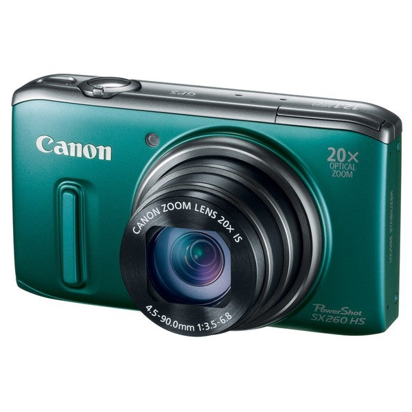 Canon PowerShot SX260 HS 12MP Green Digital Camera
