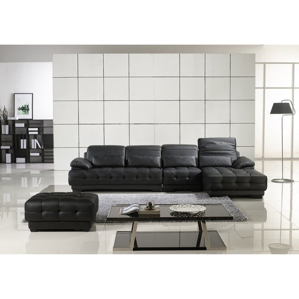 Furniture of America Sadie Adjustable Backrest 4-piece Sectional and Chair Set