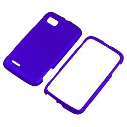 INSTEN Blue Snap-on Rubber Coated Phone Case Cover for Motorola Atrix 2 MB865 - Thumbnail 1
