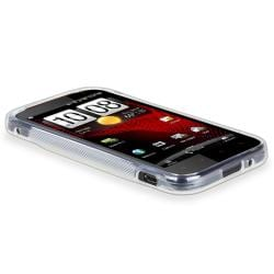 Frost White S Shape TPU Rubber Skin Case for HTC Vigor - Thumbnail 2