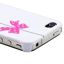 INSTEN White/ Bird Cage Snap-on Rubber Coated Phone Case Cover for Apple iPhone 4/ 4S - Thumbnail 2