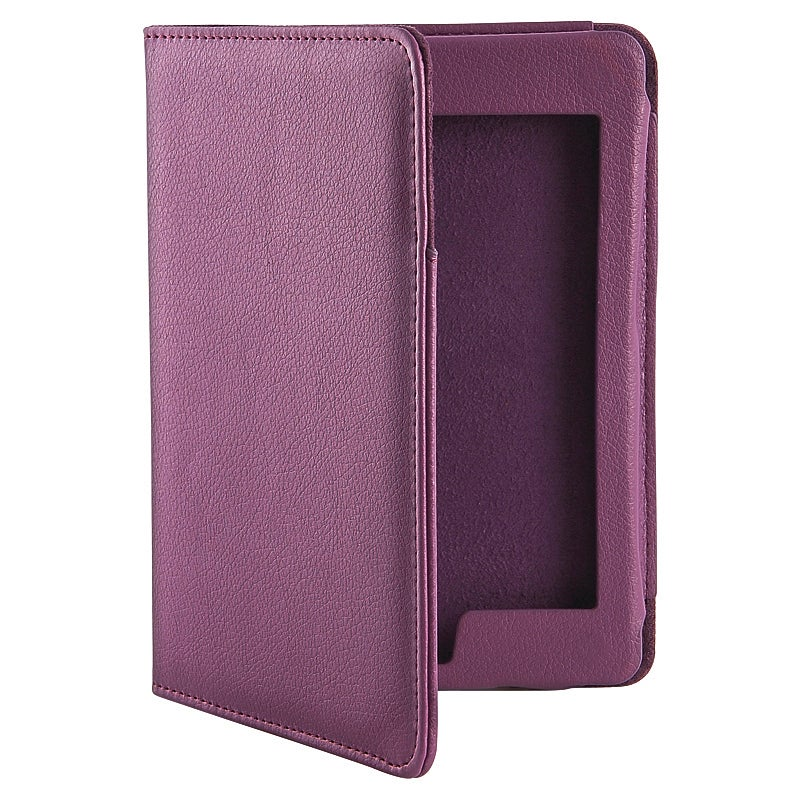 INSTEN Purple Synthetic-leather Magnetic Phone Case Cover for Amazon Kindle Touch