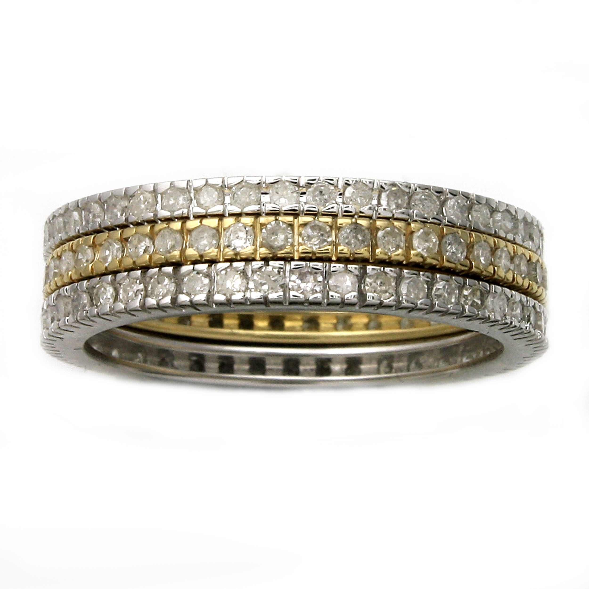 Beverly Hills Charm 10k Gold 1ct TDW Diamond Eternity Band Set (H-I, I2-I3)