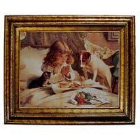 Suspense by Charles Barber Framed Canvas