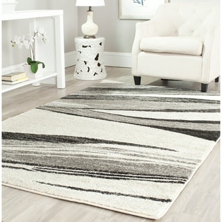 Safavieh Retro Modern Chic Abstract Light Grey/ Ivory Rug (4' x 6')