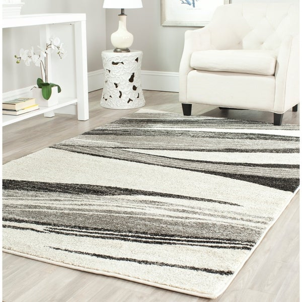 Safavieh Retro Modern Chic Abstract Light Grey/ Ivory Rug - 4' x 6'