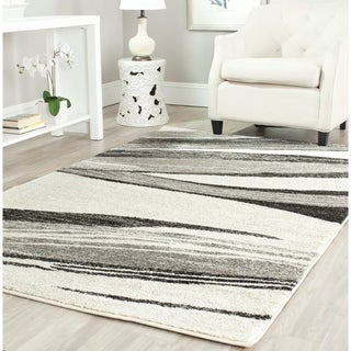 Safavieh Retro Modern Chic Abstract Light Grey/ Ivory Rug (5' x 8')