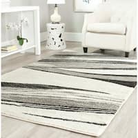 Safavieh Retro Modern Chic Abstract Light Grey/ Ivory Rug - 8' x 10'