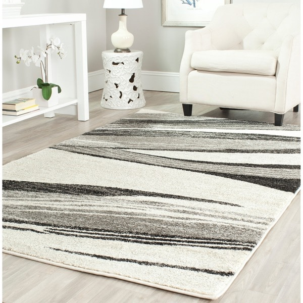Safavieh Retro Modern Abstract Light Grey/ Ivory Rug (8' x 10')