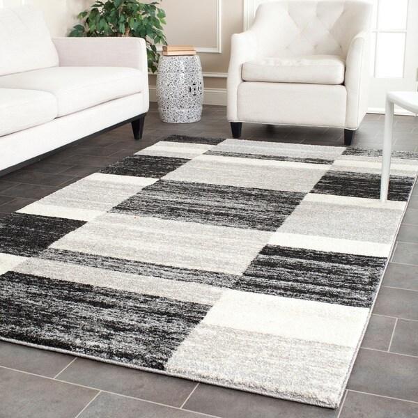 Safavieh Retro Modern Abstract Black/ Light Grey Distressed Rug (5' x 8')