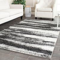 Safavieh Retro Modern Abstract Dark Grey/ Light Grey Distressed Rug - 4' x 6'