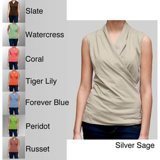 A to Z Women's Sleeveless Turkish Cotton Wrap Top