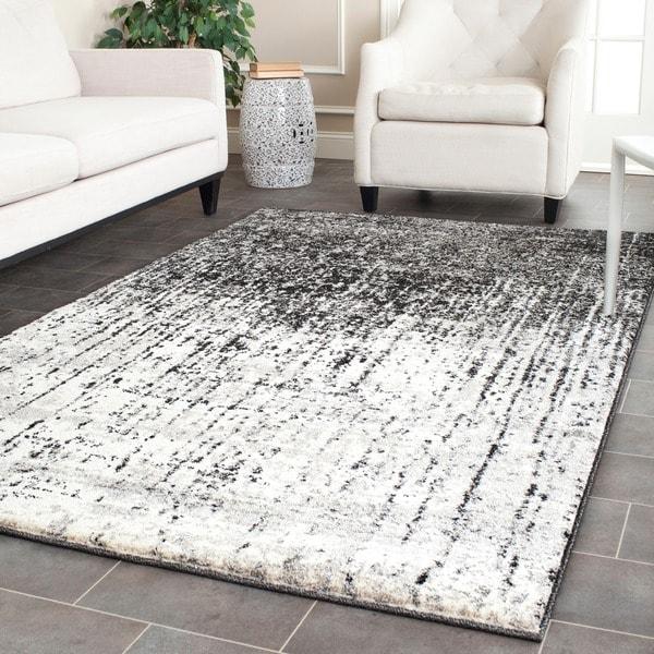 Safavieh Retro Modern Abstract Black/ Grey Rug (4' x 6')