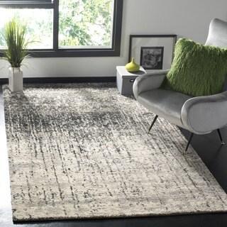 safavieh retro midcentury modern abstract black light grey distressed rug 5u0027