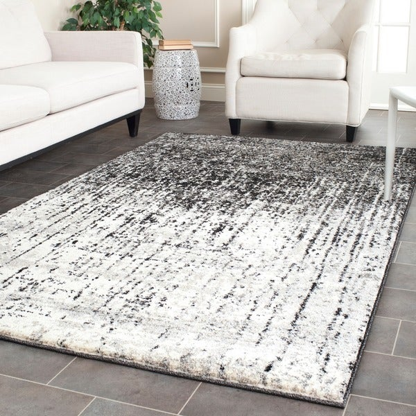 Safavieh Retro Modern Abstract Black/ Grey Rug (5' x 8')