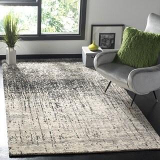 Safavieh Retro Mid-Century Modern Abstract Black/ Light Grey Distressed Rug (8' x 10')